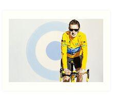 BRADLEY WIGGINS - MOD GOD CYCLIST Art Print