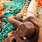 Fishing nets and rusty chains, Ireland by buttonpresser