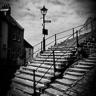 Whitby Abbey steps by Paul Davis