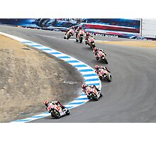 Marco Simoncelli going down the corkscrew at laguna seca 2011 Photographic Print