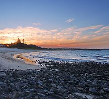 Forster Main Beach - Winter Sunset by kelliejane