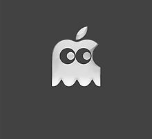 Pac-Man Ghost Apple by Eights