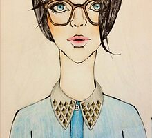 Studded Collared Girl by artbyhiba