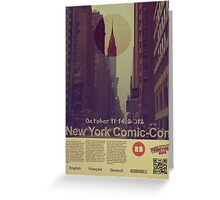 New York Comic-Con 2012 Poster Greeting Card