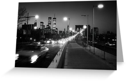Manhattan from Brooklyn Bridge 1980s by Gary Eason