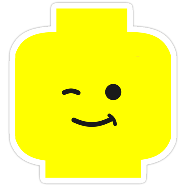 Minifig Winking Head by Customize My Minifig by ChilleeW