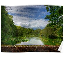 The River Itchen from a Bridge at Itchen Stoke Poster