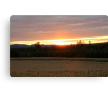 Sunset in Dalecarlia Canvas Print