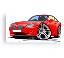 BMW Z4 Coupe Red Canvas Print