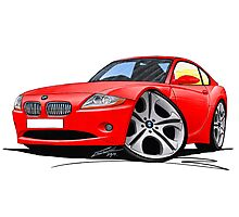 BMW Z4 Coupe Red Photographic Print