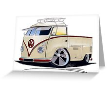 VW Splitty Pick-Up (RB) Greeting Card