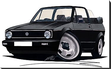 VW Golf (Mk1) Cabriolet Black by Richard Yeomans