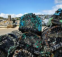 Lobster Pots ~ St Ives by Susie Peek