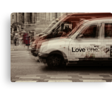 love london cabbies Canvas Print