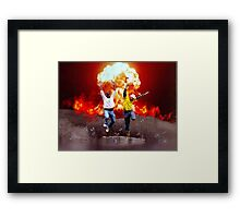 Cool Guys Don't Look at Explosions Framed Print
