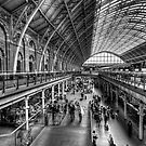 London St Pancras Station BW by Yhun Suarez