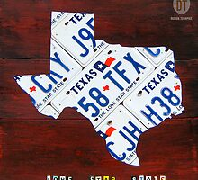 Texas License Plate Map by designturnpike