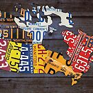 License Plate Map of Canada by designturnpike