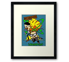Mythbuster's Lab Framed Print