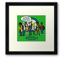 Greendale the Animated Series Framed Print