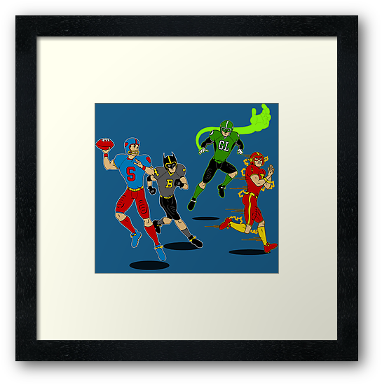 Superhero Football by mbecks114