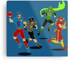 Superhero Football Metal Print