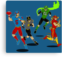 Superhero Football Canvas Print