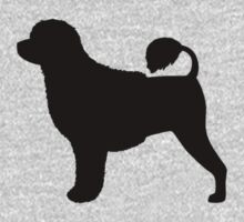 Portuguese Water Dog Silhouette by Jenn Inashvili