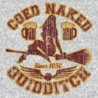 Coed Naked Quidditch (Vintage Red w/ Gold Outline) by Jay Kristopher Huddy