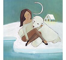 Love story: a bear and his girl Photographic Print