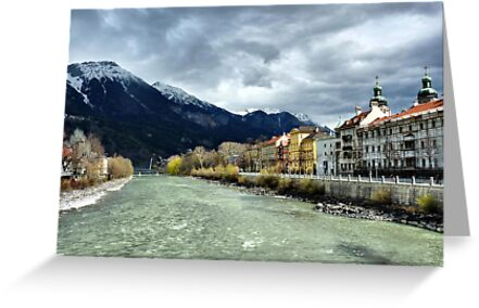 The Inn River-Innsbruck. by Lilian Marshall
