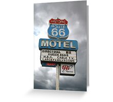 Arizona Route 66 Motel Seligman Greeting Card