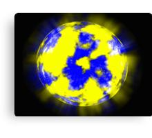 Unknown planet on a dark blue background Canvas Print