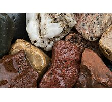 Wet Rocks taken at 3200 iso Photographic Print