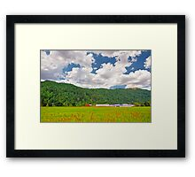 Beautiful Farm Framed Print