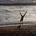 Cartwheels on the Beach by cjfehr
