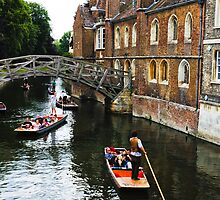 Taking a punt on The River Cam by Pauline Tims
