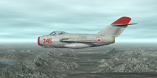 Mig-15 by Walter Colvin
