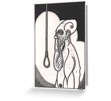 greasy soul death Greeting Card