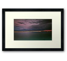 Storm Incoming Framed Print