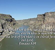 """Romans 8:39 "" by Carter L. Shepard by echoesofheaven"