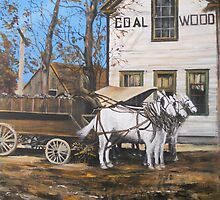 Johns Bros Coal & Wood, Old Norfolk, VA circa 1910 by Jsimone