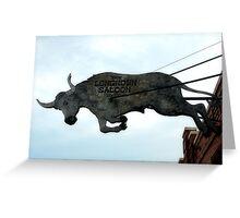 Long Horn Saloon Greeting Card