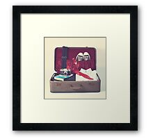Vintage Suitcase Framed Print