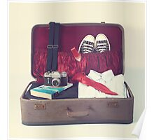 Vintage Suitcase Poster
