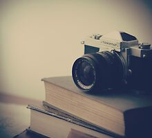 Vintage Camera and Books  by Andreka