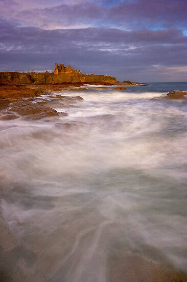 Tantallon Castle Dawn by Scott Masterton