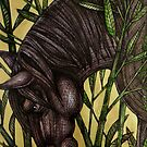 Horse in Bamboo by Lynnette Shelley