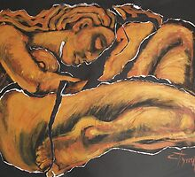 Sleeping Nymph4 - female nude by CarmenT