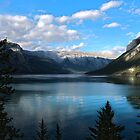 Late Evening at Lake Minnewanka by Vickie Emms